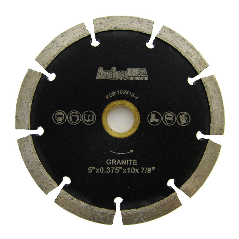 Archer USA 5 in. Crack Chaser Diamond Blade for Concrete Repair