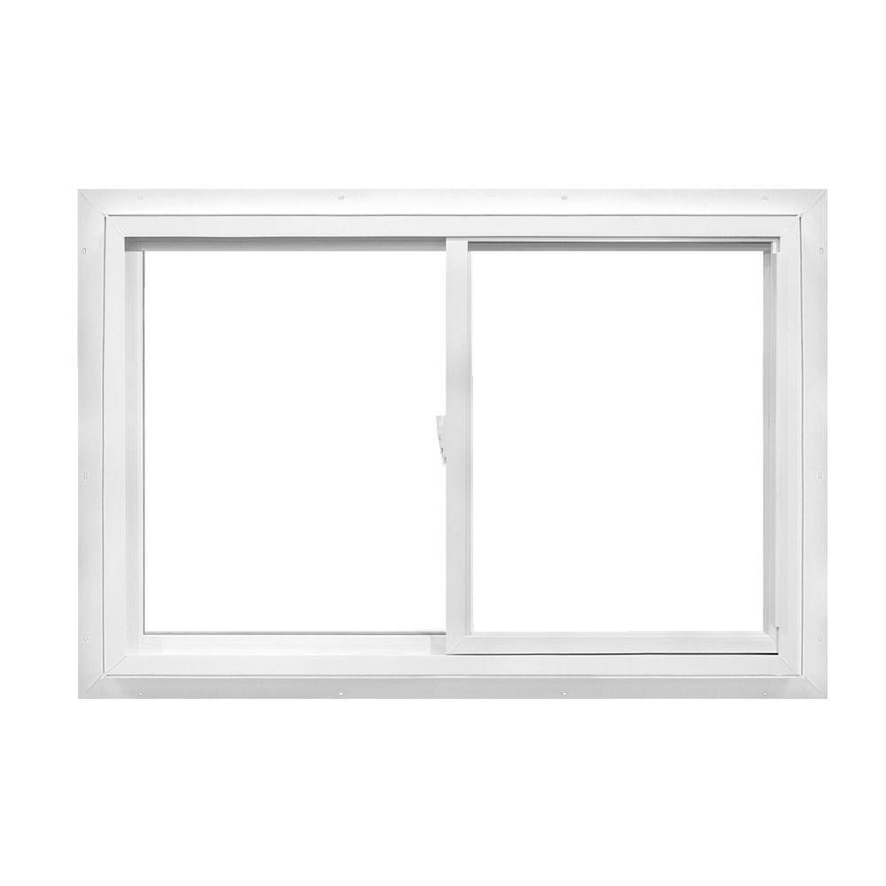 Sliding Glass Windows: TAFCO WINDOWS 48 In. X 36 In. Utility Left-Hand Sliding