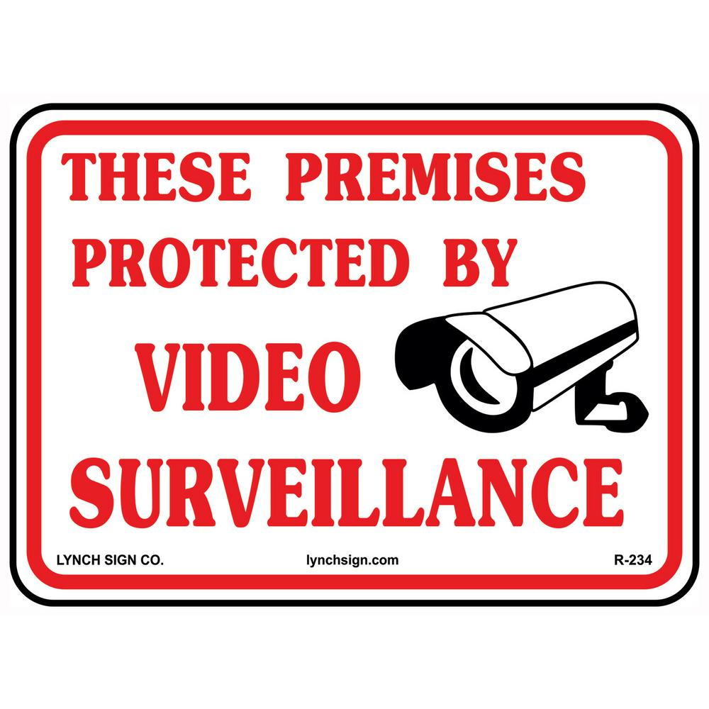 14 In X 10 In Video Surveillance Sign Printed On More