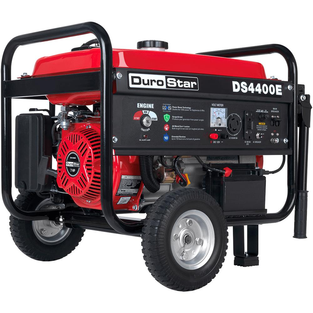 Durostar 3500-Watt Gasoline Powered Electric Start Portable Generator with  Wheel Kit