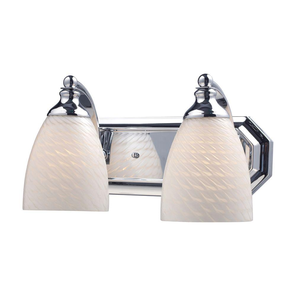 Titan Lighting 2-Light Polished Chrome Wall Mount Vanity Light