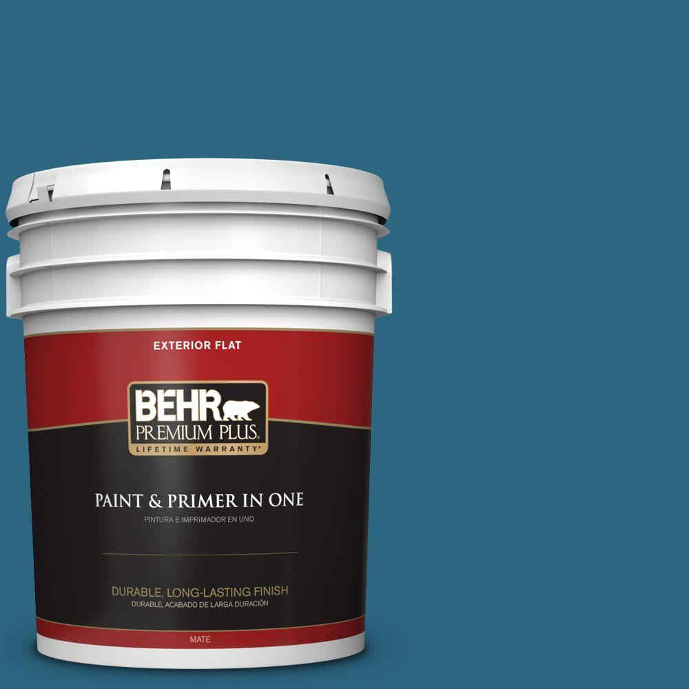 5-gal. #M480-7 Ice Cave Flat Exterior Paint