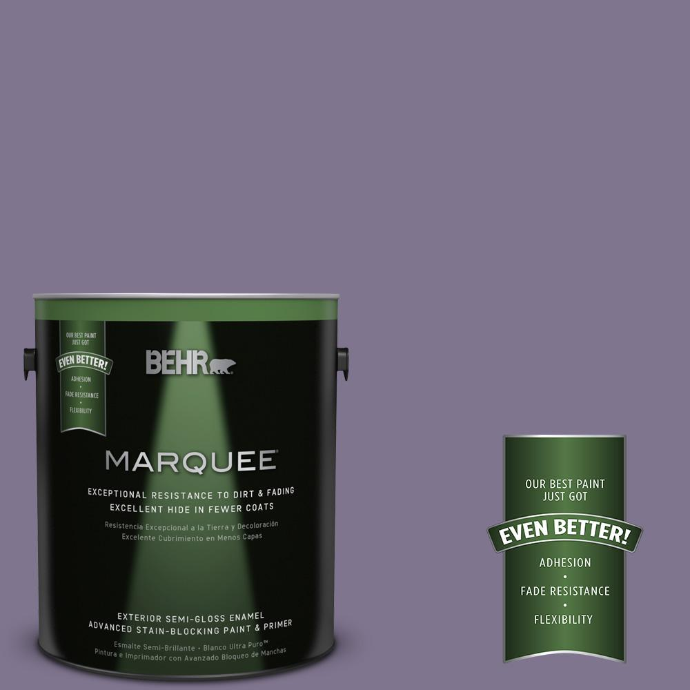 1-gal. #650F-5 Purple Statice Semi-Gloss Enamel Exterior Paint