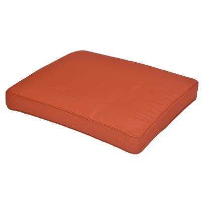 Sauntera Quarry Red Replacement Outdoor Ottoman Cushion