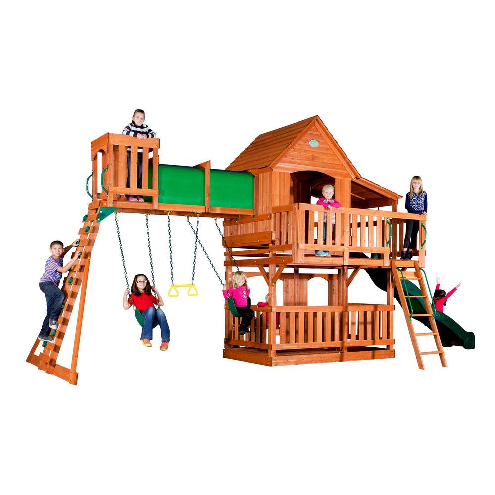 Backyard Discovery Woodridge Ii All Cedar Playset 6815com
