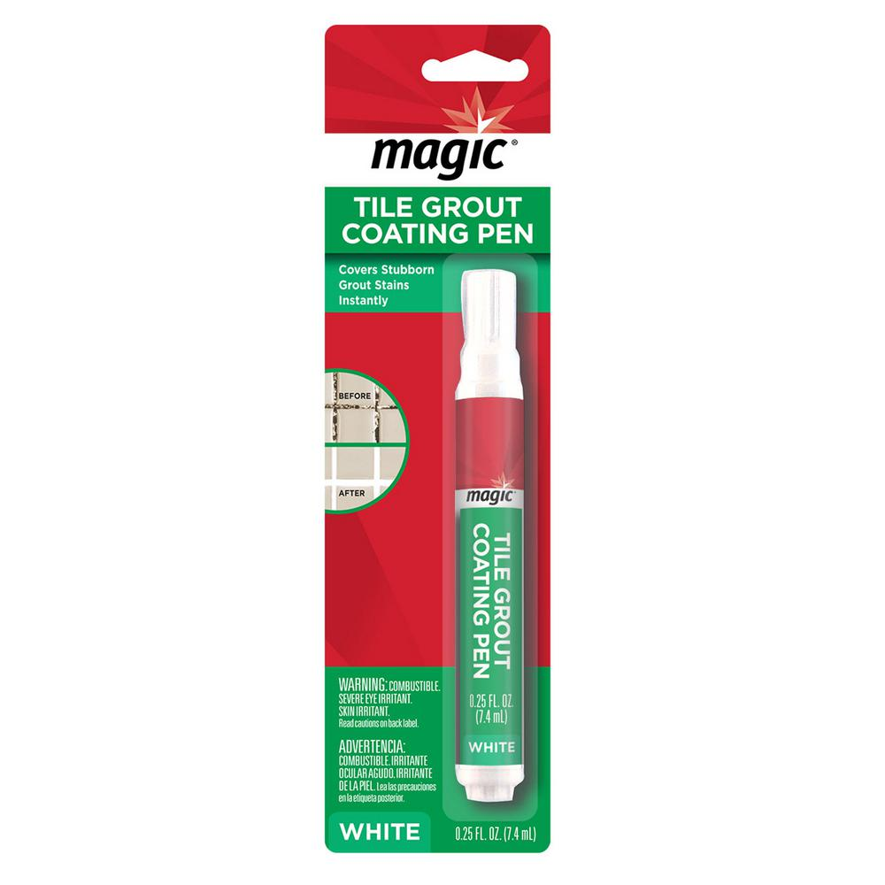 Magic 0 25 Oz Tile Grout Coating Pen In White 3076 The