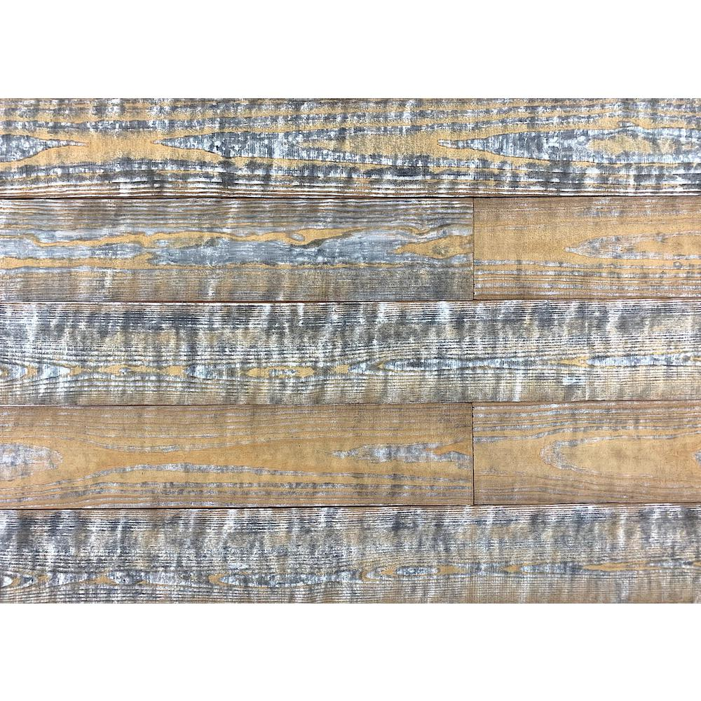 Easy Planking Thermo-treated 1/4 in. x 5 in. x 4 ft. Gray Barn Wood Wall Planks (10 sq. ft. per 6 Pack)