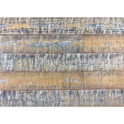 Thermo-treated 1/4 in. x 5 in. x 4 ft. White, Gold and Gray Barn Wood Wall Planks (10 sq. ft. per 6 Pack)