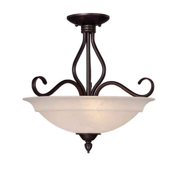 Bronze Semi Flush Mount