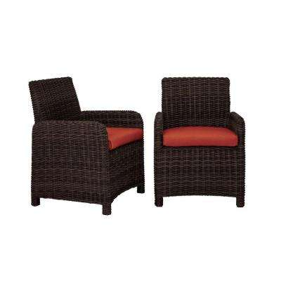 Northshore Patio Dining Chair with Cinnabar Cushions (2-Pack) -- CUSTOM