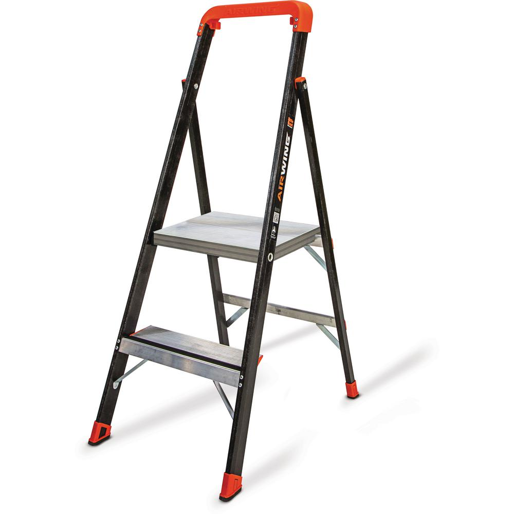 AirWing 4 ft. Fiberglass Step Ladder Type IAA 375 lbs. Rating