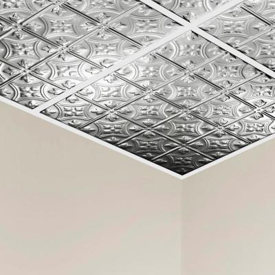 Hamilton 2 ft. x 2 ft. Lay-In Tin Ceiling Tile in Unfinished (20 sq. ft. / case of 5)