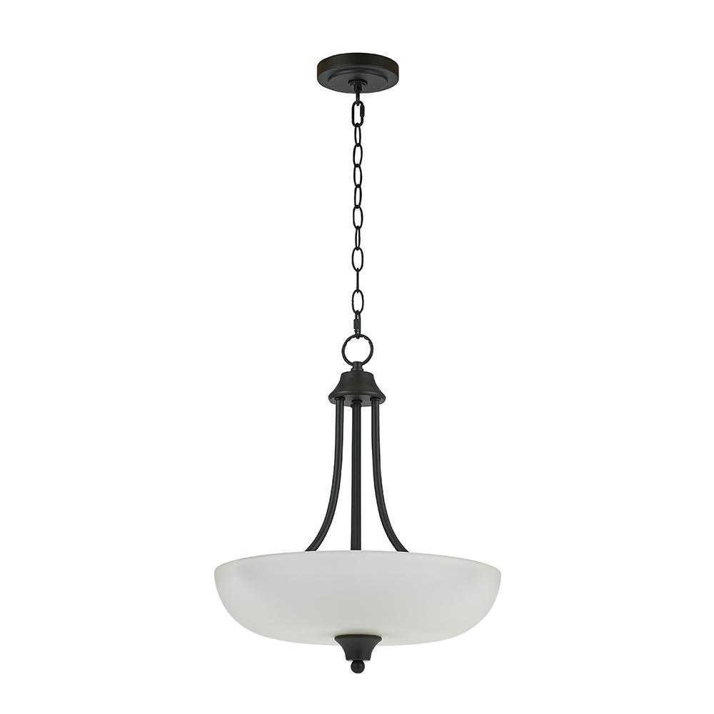 Alsy Alsy 2-Light Bronze Inverted Pendant with Etched Glass Shade