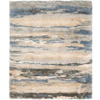 Tidewater Blue/Grey 8 ft. x 10 ft. Indoor Area Rug