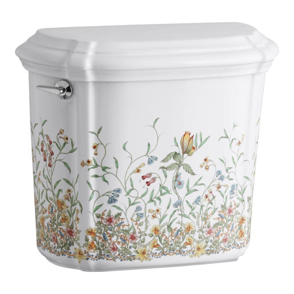 KOHLER English Trellis 1.6 GPF Single Flush Toilet Tank Only in White