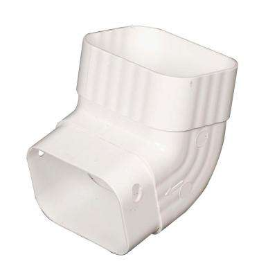 2 in. x 3 in. White Vinyl A-Elbow
