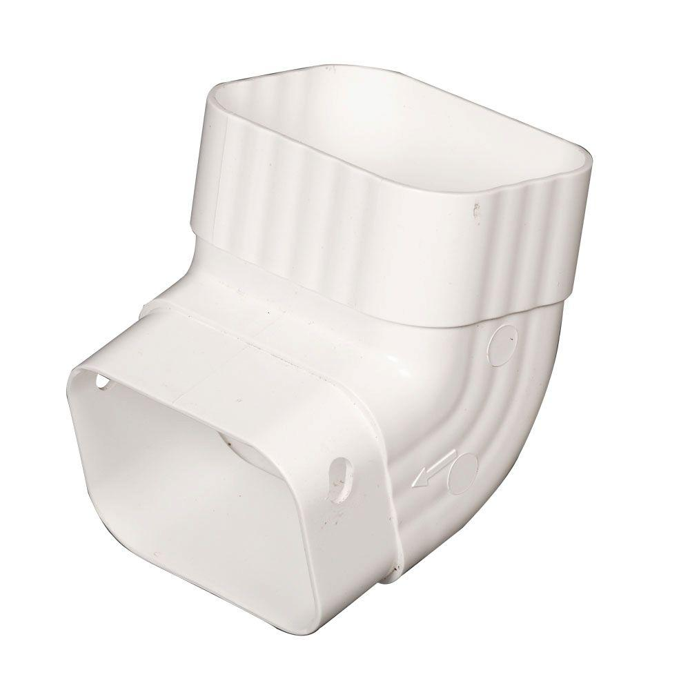 Amerimax Home Products 2 In X 3 In White Vinyl A Elbow