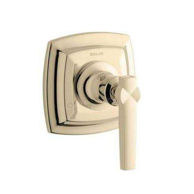 Margaux 1-Handle Transfer Valve Trim Kit in Vibrant French Gold with Lever Handle (Valve Not Included)