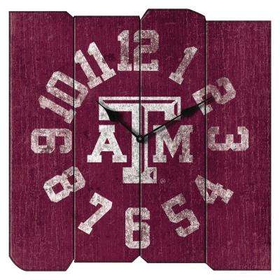 Texas A&M Vintage Square Clock