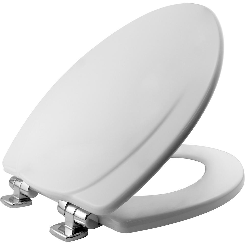 Remarkable Bemis Slow Close Elongated Closed Front Toilet Seat In White Ocoug Best Dining Table And Chair Ideas Images Ocougorg