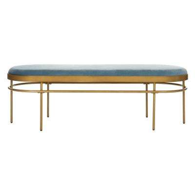 Sylva Slate Blue/Gold Bench