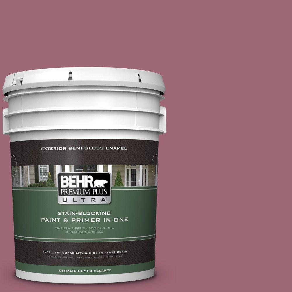 5-gal. #100D-5 Berries and Cream Semi-Gloss Enamel Exterior Paint