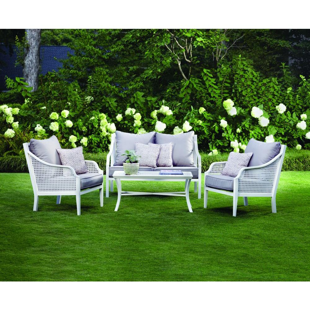 Hampton Bay Alise 4-Piece Patio Seating Set-DISCONTINUED