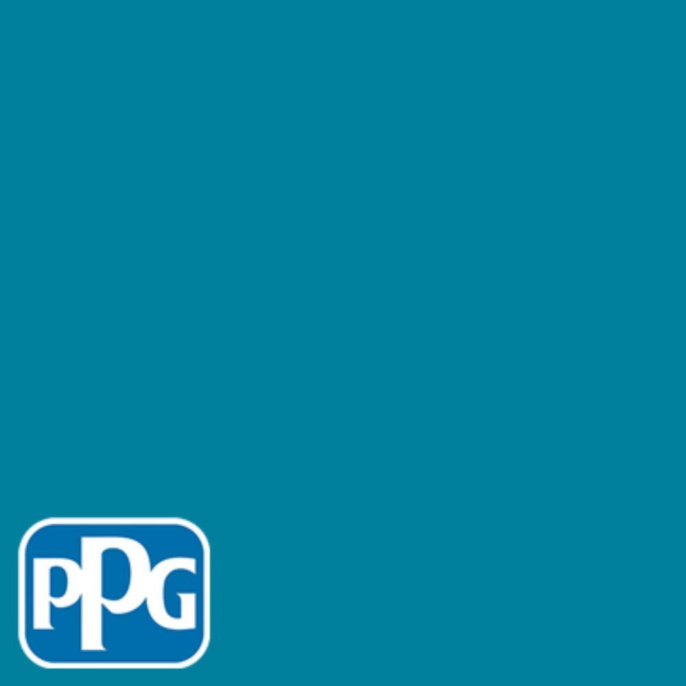 8 oz. #HDPPGB40 Caribbean Sea Flat Interior/Exterior Paint Sample