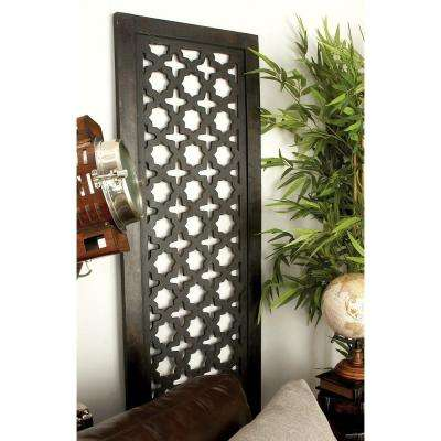 72 in. x 20 in. Rustic Decorative Wooden Wall Panel in Black