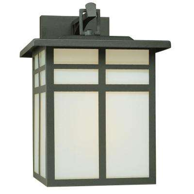 Mission 1-Light Black Outdoor Wall-Mount Lantern