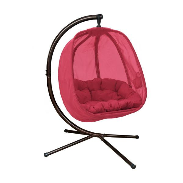 5.5 ft. Hanging Egg Patio Swing with Base