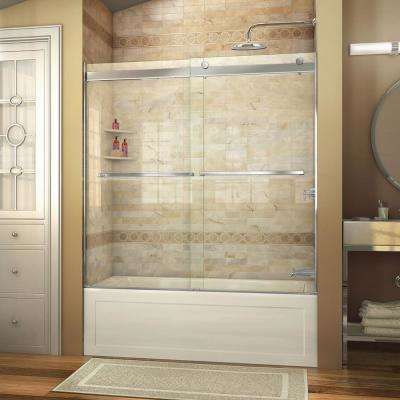Semi frameless shower doors showers the home depot semi frameless sliding planetlyrics Choice Image