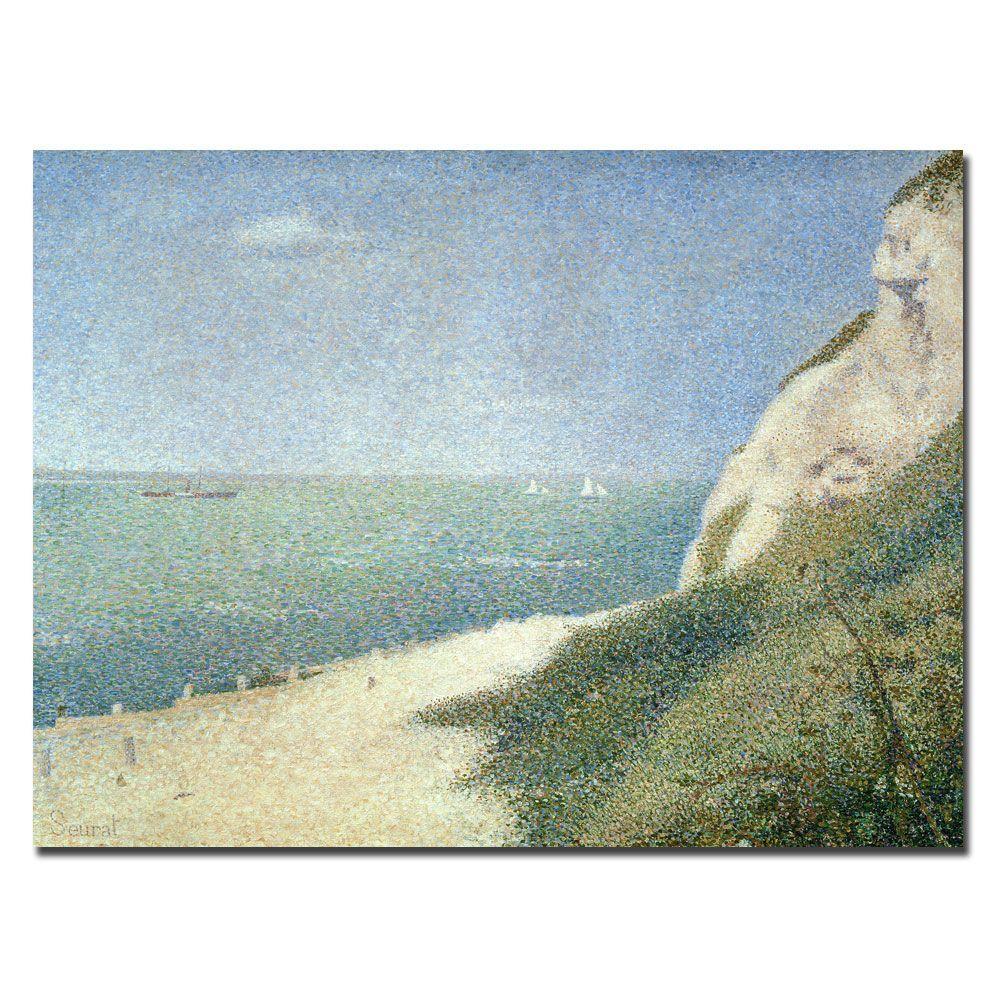 null 24 in. x 32 in. Beach at Bas Butin Honfleur 1886 Canvas Art