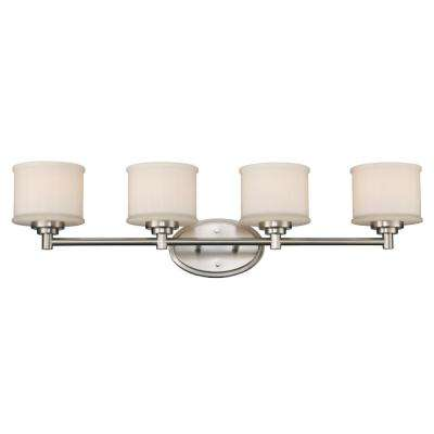 Cahill 4-Light Brushed Nickel Bath Light