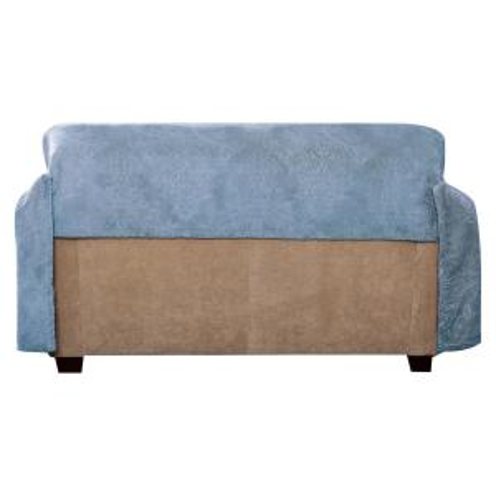 Innovative Textile Solutions Plush Blue Damask Throw Sofa ...