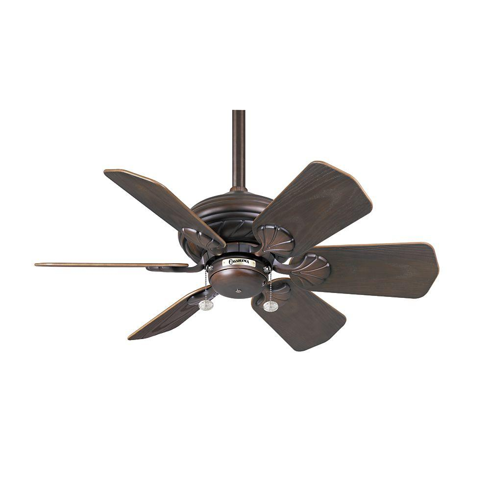 Casablanca Wailea 31 in. Indoor/Outdoor Brushed Cocoa Ceiling Fan