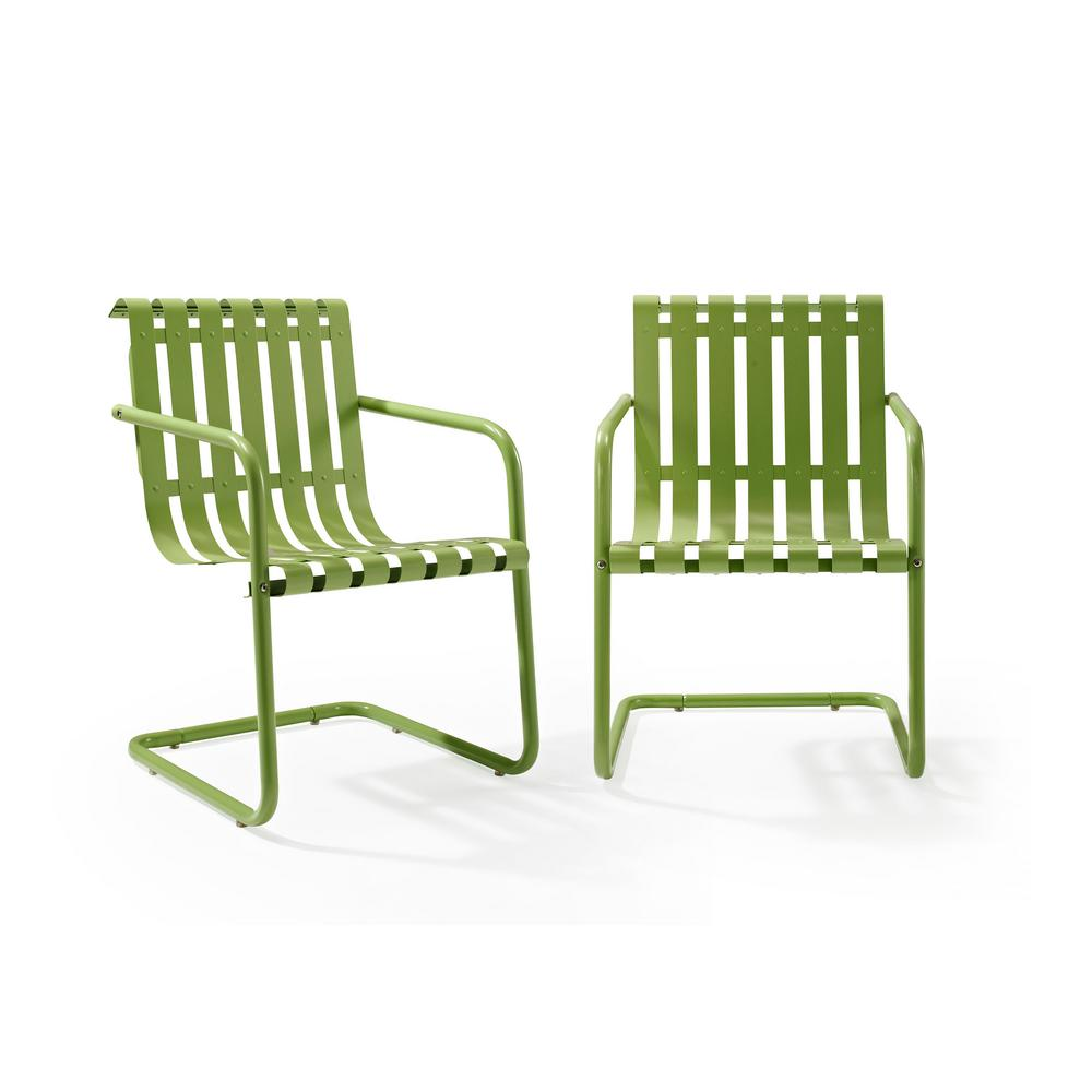 Gracie Green Metal Outdoor Chair (Set of 2) (2-Piece/Carton)