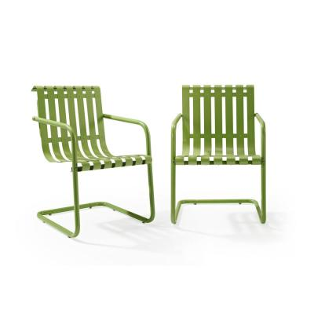 Gracie Green Metal Outdoor Chair (Set of 2) (2-Piece/Carton)