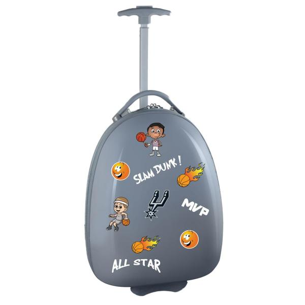 outlet store 32ee7 0ca7c Denco NBA San Antonio Spurs Gray 18 in. Kids Pod Luggage ...