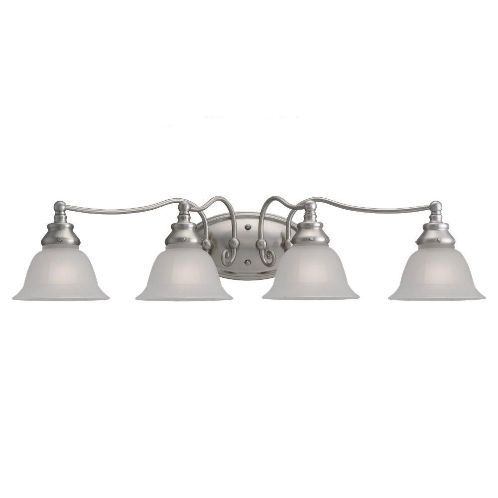 Sea Gull Lighting Canterbury 4-Light Brushed Nickel Vanity Fixture-DISCONTINUED