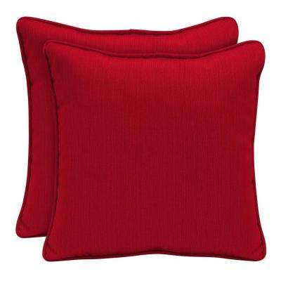 Square Solid Outdoor Pillows Patio Accessories The Home Depot