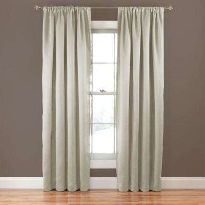 Tricia 95 in. L Polyester Rod Pocket Thermapanel in Stone (1-Pack)