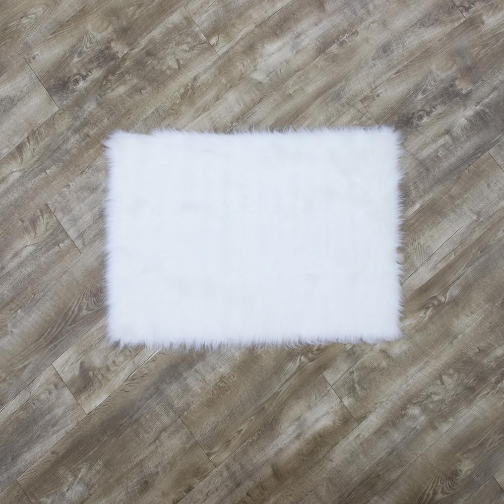 Home Decorators Collection Faux Sheepskin White 3 Ft X 5 Area Rug