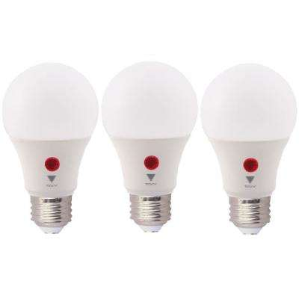 60-Watt Equivalent A19 800 Lumens Dusk To Dawn LED Light Bulb, Daylight 5000K (3-Pack)