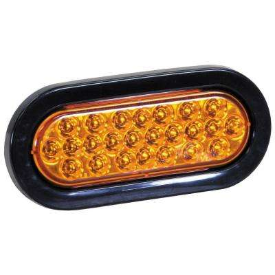 LED 6 in. Oval Strobe Light, Amber