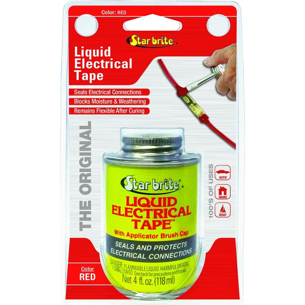 Star Brite 4 Oz Liquid Electrical Tape Red 084105n