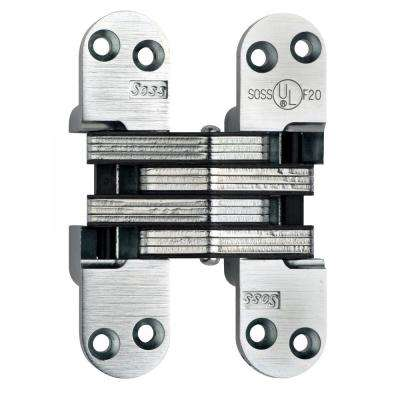 1-3/4 in. Satin Chrome Invisible Hinge with 20-Minute Fire Rating