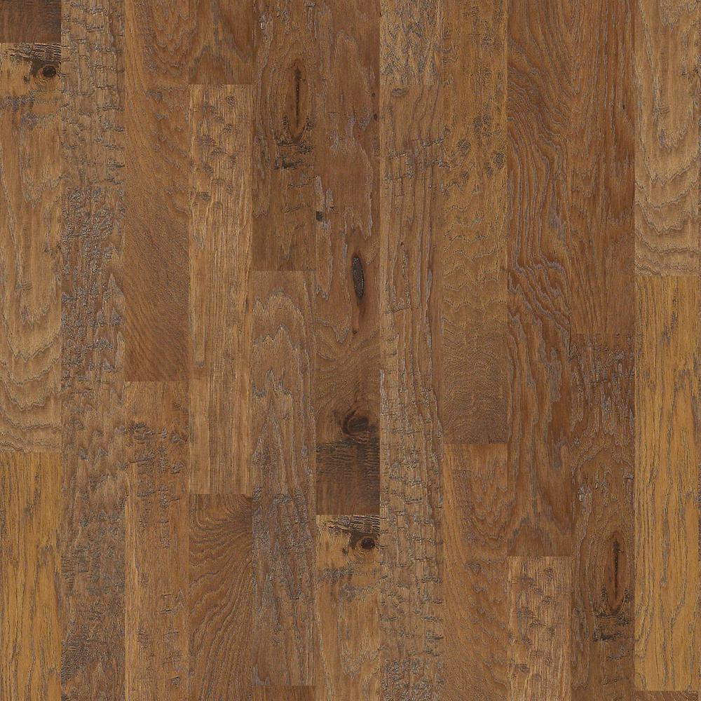 Shaw Canyon Hickory Desert 3/8 in. T x 5 in. W x Varying Length Engineered Hardwood Flooring (23.66 sq. ft. /case)