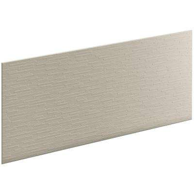Choreograph 0.3125 in. x 60 in. x 28 in. 1-Piece Shower Wall Panel in Sandbar with Stix Texture