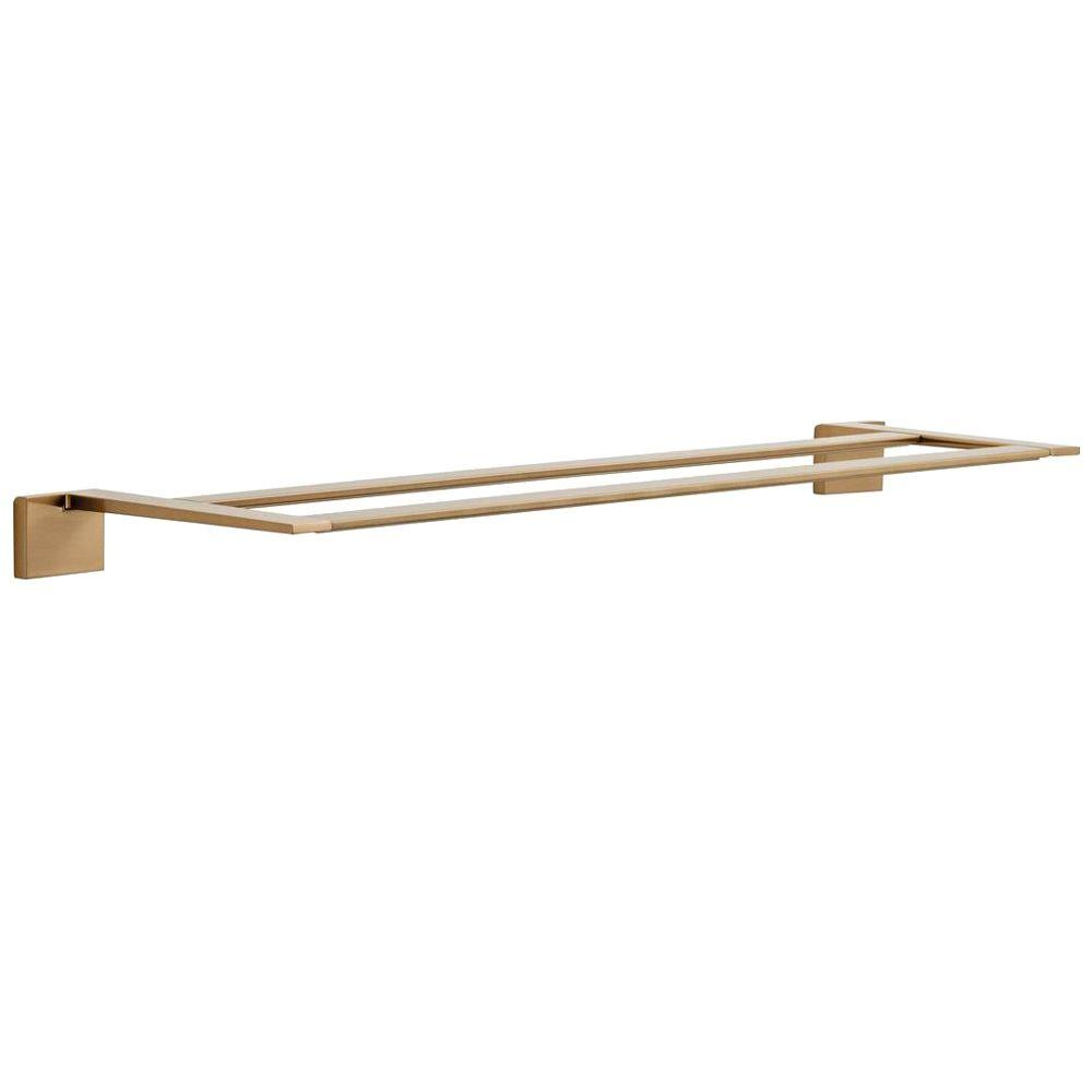 Delta Vero 24 in. Double Towel Bar in Champagne Bronze